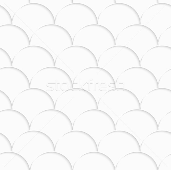 3D white overlapping half circles Stock photo © Zebra-Finch
