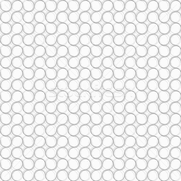 серый орнамент волосатый Круги бесшовный Сток-фото © Zebra-Finch