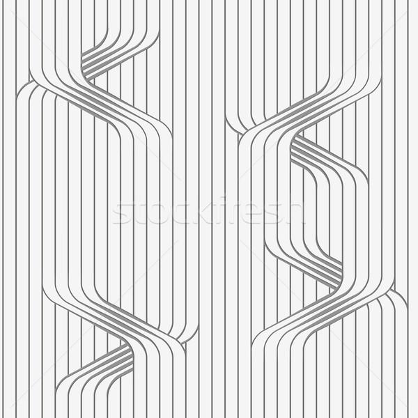 Carta irregolare linee 3D pattern Foto d'archivio © Zebra-Finch