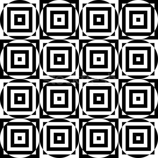 черно белые Круги Cut геометрический Сток-фото © Zebra-Finch