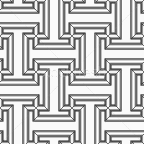 Shades of gray striped T shapes Stock photo © Zebra-Finch