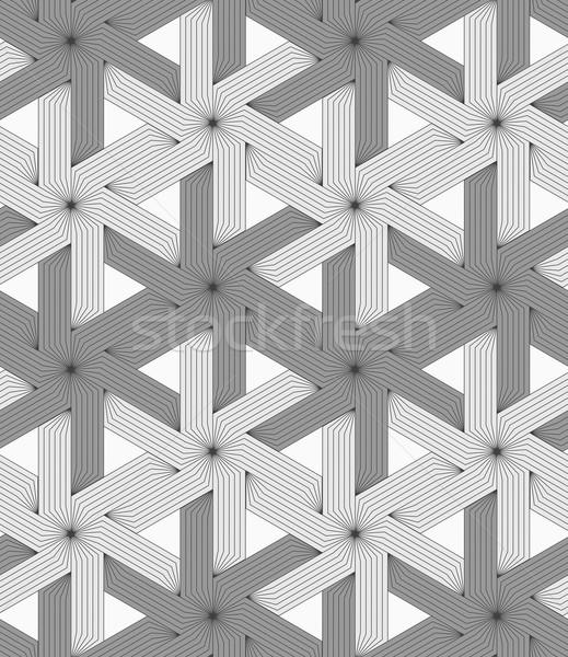 Gri çizgili altı Yıldız şık geometrik Stok fotoğraf © Zebra-Finch