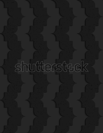 Black textured plastic vertical pointy waves Stock photo © Zebra-Finch