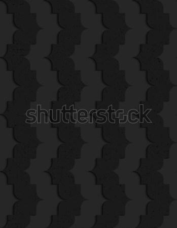 Black textured plastic vertical pointy waves Stock photo © Zebra-Finch