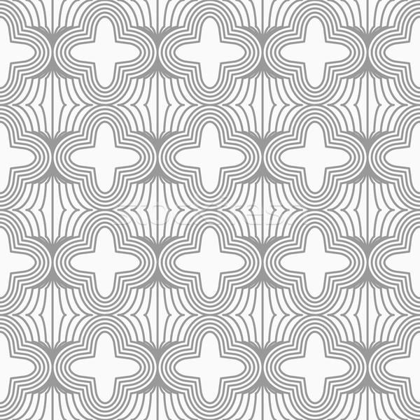 スリム グレー 4 グリッド スタイリッシュ 幾何学的な ストックフォト © Zebra-Finch
