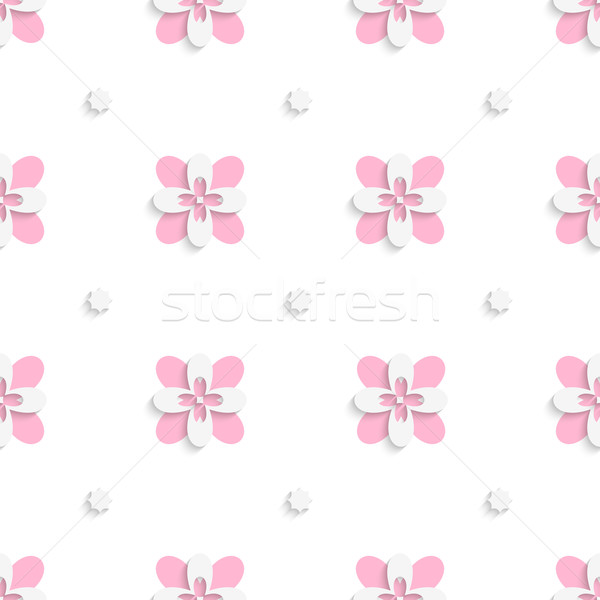 Floristic simple pink tile ornament Stock photo © Zebra-Finch