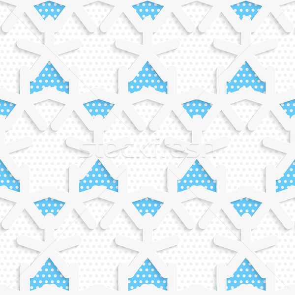 Blue 3d shapes layered with blue pattern Stock photo © Zebra-Finch