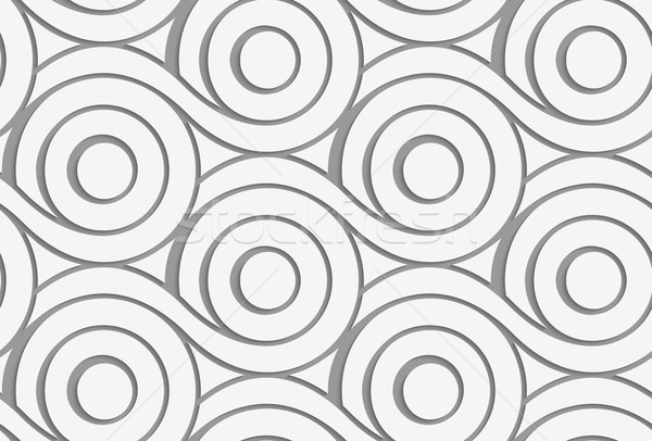 Perforated circles with merging tails  Stock photo © Zebra-Finch