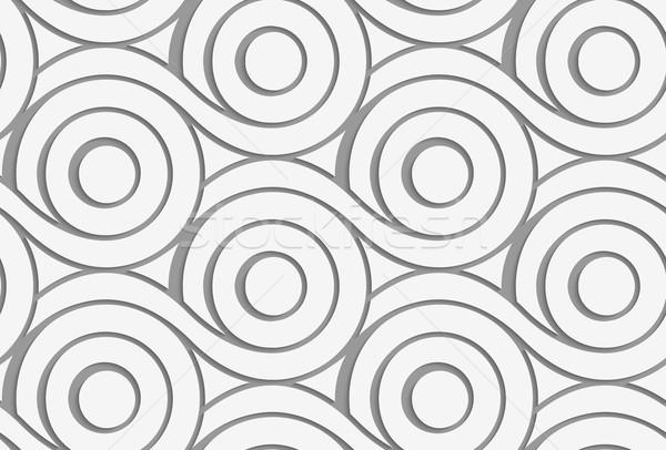 Circles nowoczesne geometryczny efekt cień Zdjęcia stock © Zebra-Finch