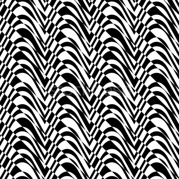 Black and white alternating bulging waves with diagonal cut Stock photo © Zebra-Finch