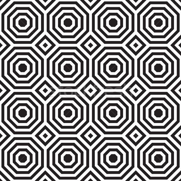 Siyah beyaz kareler şık geometrik modern soyut Stok fotoğraf © Zebra-Finch