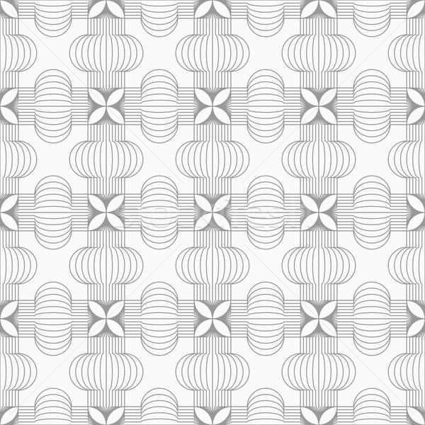 Slim gray hatched crosses Stock photo © Zebra-Finch