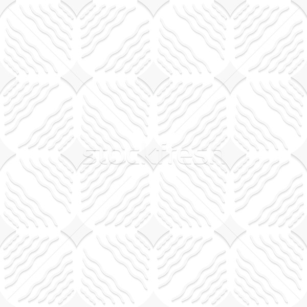 Diagonal white wavy lines and pointy squares pattern Stock photo © Zebra-Finch