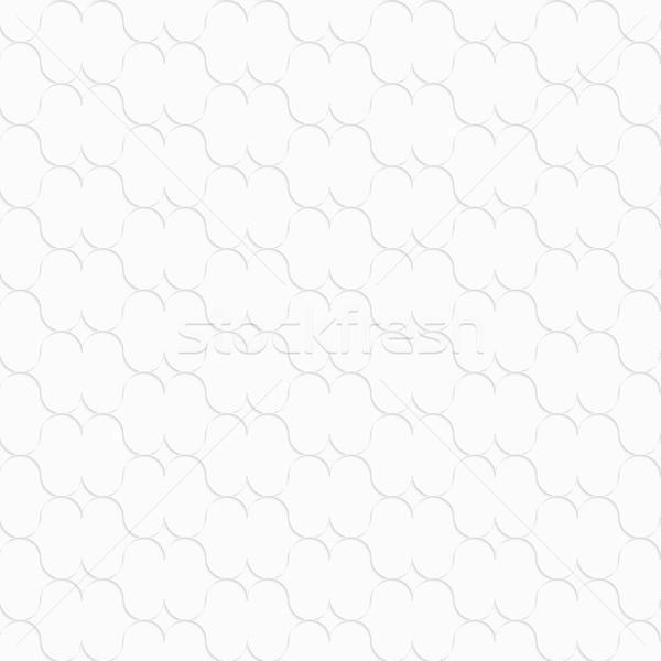 3D fehér ajak formák végtelenített mértani Stock fotó © Zebra-Finch