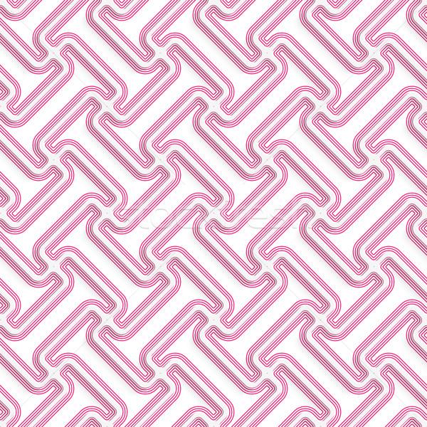 Beyaz 3D renkler diyagonal pembe Stok fotoğraf © Zebra-Finch