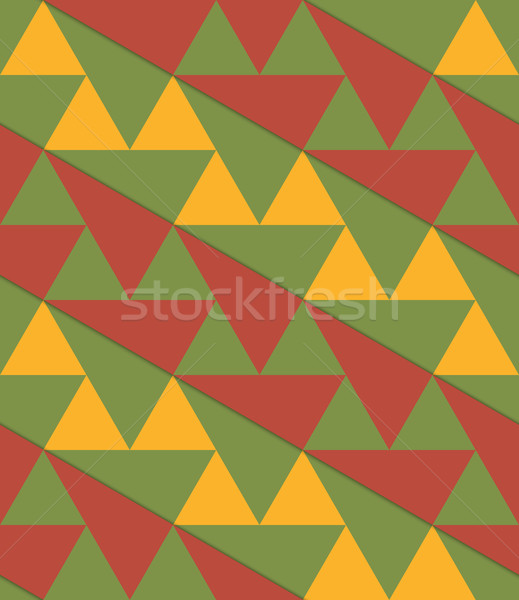 Retro 3D green yellow brown diagonal triangles Stock photo © Zebra-Finch