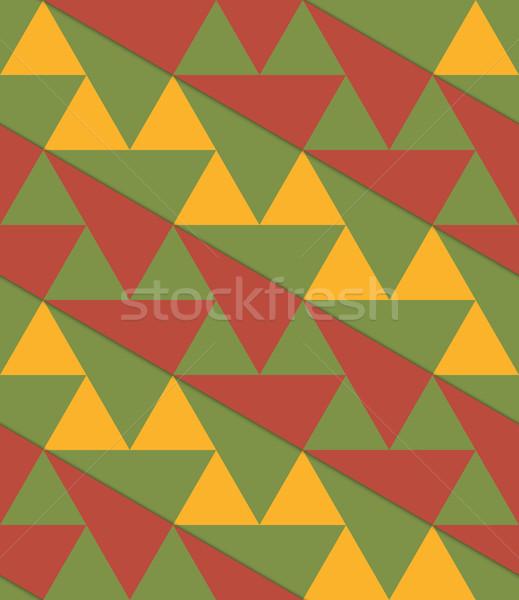 ретро 3D зеленый желтый коричневый диагональ Сток-фото © Zebra-Finch