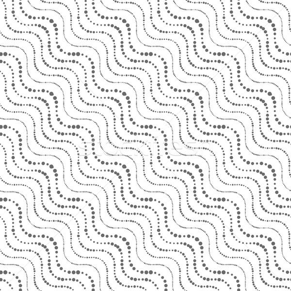 Süs noktalı dalgalı diyagonal hatları Stok fotoğraf © Zebra-Finch