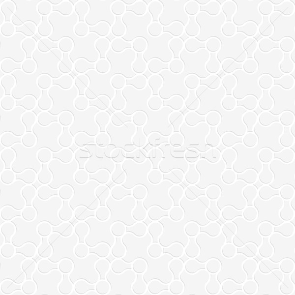 3D white rounded shapes perforated on white Stock photo © Zebra-Finch