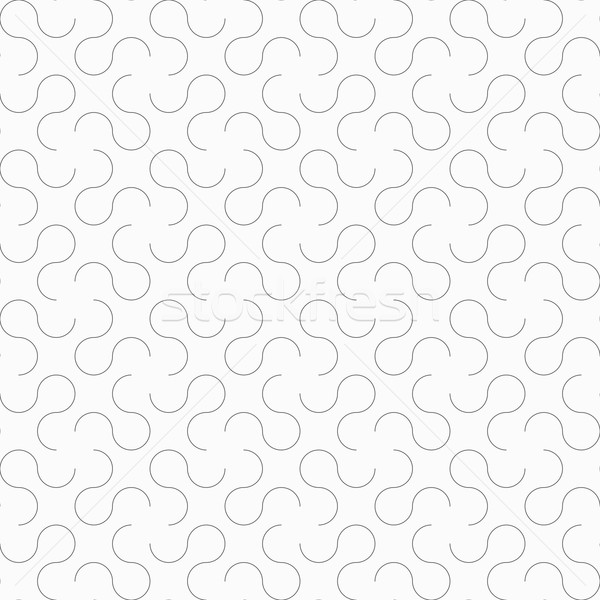 Slim gray omega like shapes Stock photo © Zebra-Finch