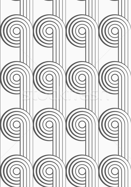 Szürke mintázott körök vonalak absztrakt mértani Stock fotó © Zebra-Finch
