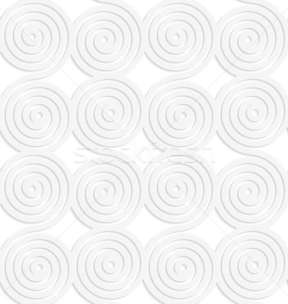Paper white merging spirals Stock photo © Zebra-Finch