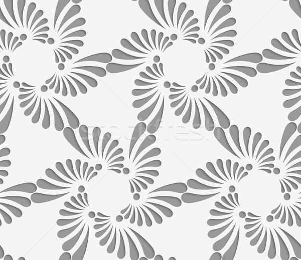 Florescer rasgar gotas seis geométrico moderno Foto stock © Zebra-Finch