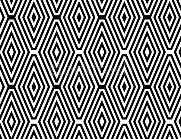 Black and white striped diamonds in rows Stock photo © Zebra-Finch