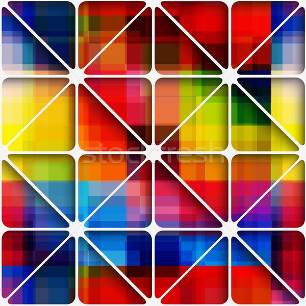 радуга Пиксели чистой аннотация 3D Сток-фото © Zebra-Finch