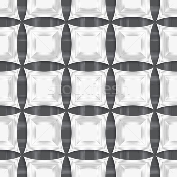 ストックフォト: 幾何学的な · 飾り · グレー · 正方形 · シームレス · 幾何学的な