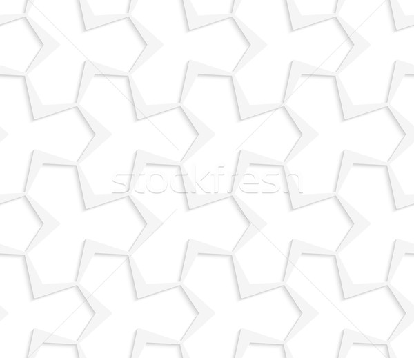 3D white abstract pointy tetrapod grid Stock photo © Zebra-Finch