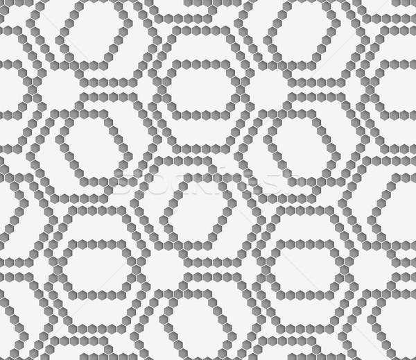 グレー 複雑な グリッド 抽象的な 幾何学的な パターン ストックフォト © Zebra-Finch