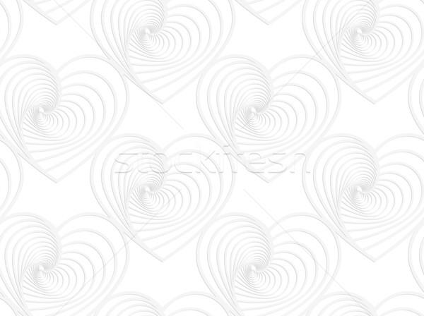 Papel blanco a rayas corazones sin costura Foto stock © Zebra-Finch