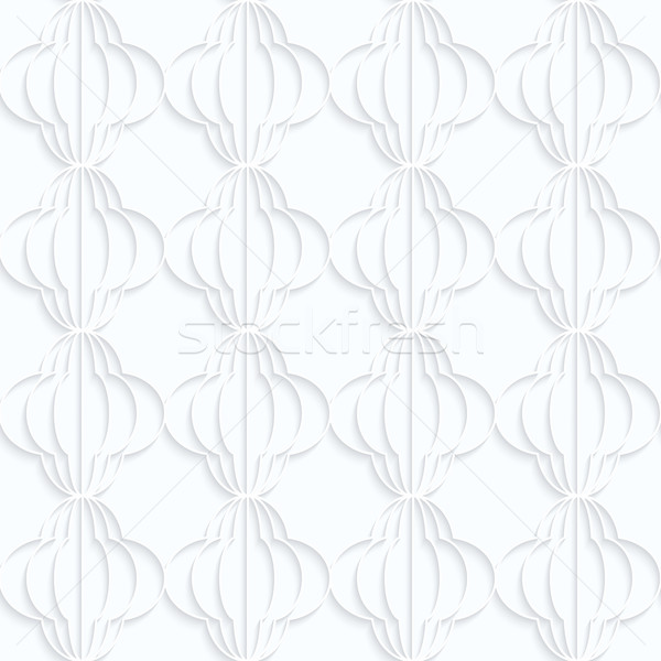 Quilling white paper striped bulbs in row Stock photo © Zebra-Finch
