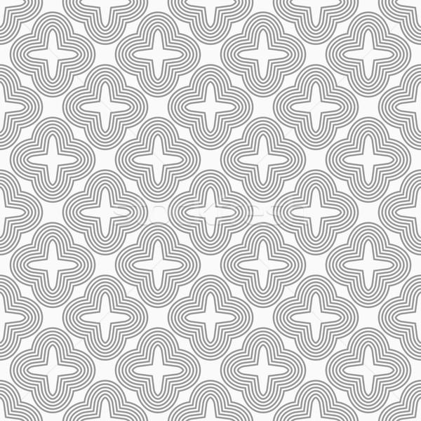 Delgado gris cuatro elegante geométrico moderna Foto stock © Zebra-Finch