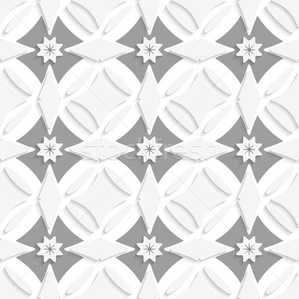 White ornament and gray crosses Stock photo © Zebra-Finch
