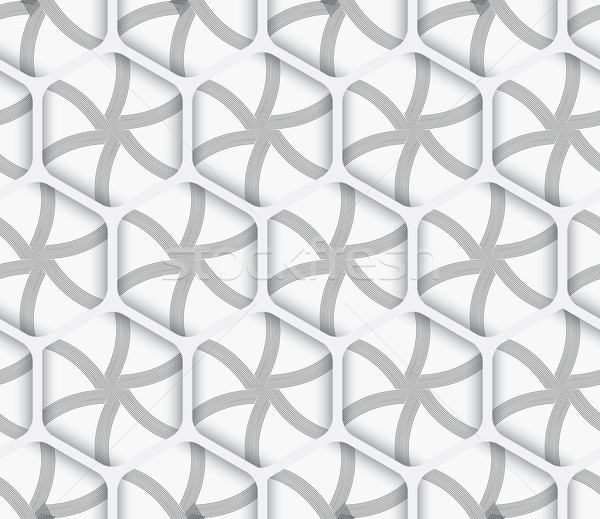 Geometrical ornament 3d hexagonal net on white background Stock photo © Zebra-Finch