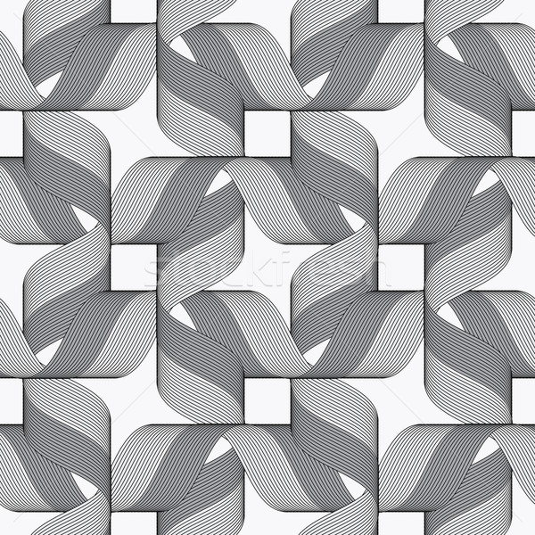 Ribbons dark and light forming bows pattern Stock photo © Zebra-Finch