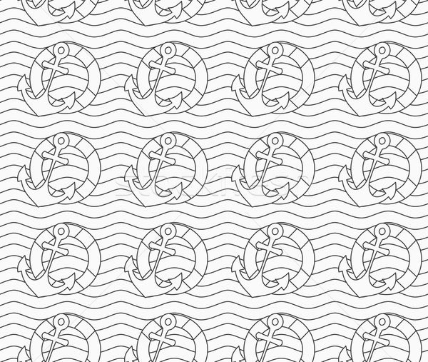 Grijs reddingsboei golvend lijnen monochroom abstract Stockfoto © Zebra-Finch