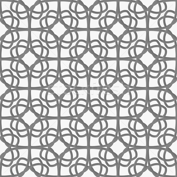 White geometrical ornament perforated with gray Stock photo © Zebra-Finch