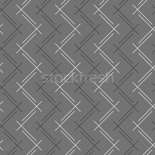 Monochroom patroon strips zigzag naadloos stijlvol Stockfoto © Zebra-Finch