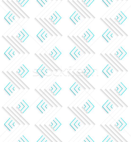 белый зеленый бесшовный геометрический современных 3D Сток-фото © Zebra-Finch