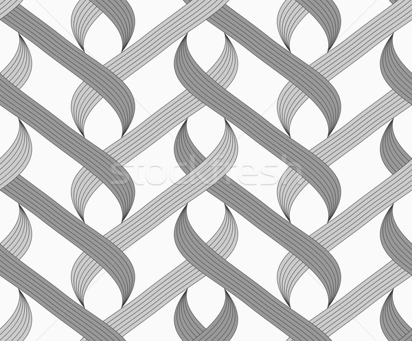Stock photo: Flat gray with shaded overlapping integrals