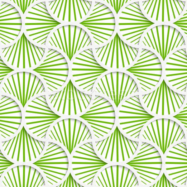 3D zielone pasiasty pin sieci bezszwowy Zdjęcia stock © Zebra-Finch
