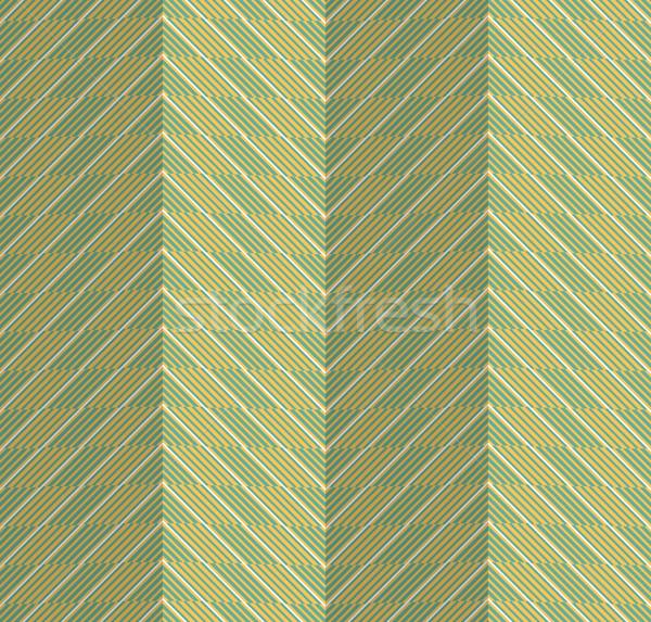 Retro fold green striped chevron Stock photo © Zebra-Finch