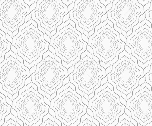 Szczupły szary falisty diamentów elegancki geometryczny Zdjęcia stock © Zebra-Finch