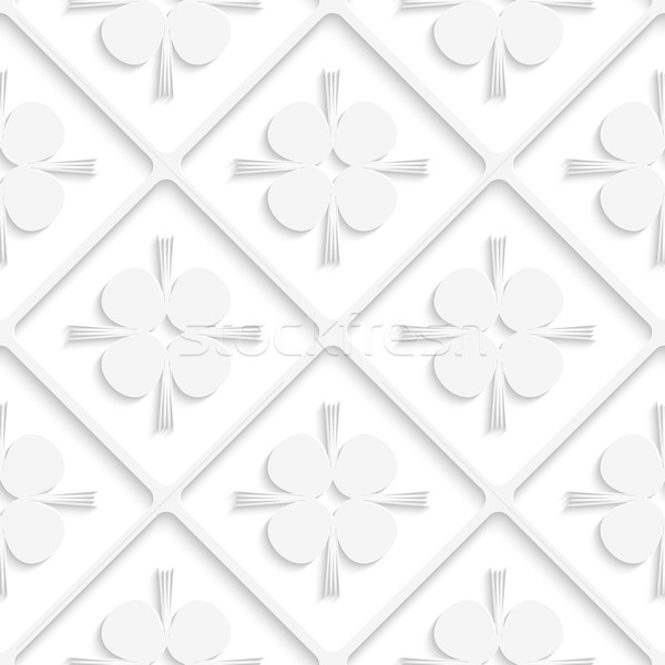 Diagonal white square net and pointy shapes pattern Stock photo © Zebra-Finch