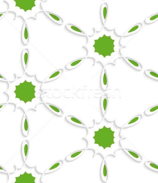 Fehér egyszerű virág örvény zöld bent Stock fotó © Zebra-Finch
