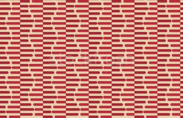 Retro fold red striped hexagons Stock photo © Zebra-Finch
