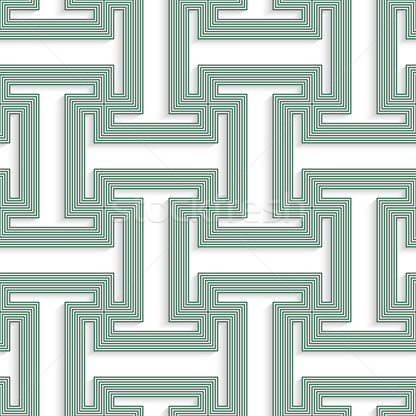 Biały 3D kolory zielone geometryczne Zdjęcia stock © Zebra-Finch